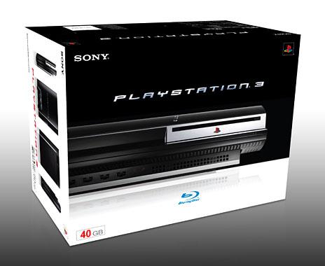 40 GB Playstation3 Packshot