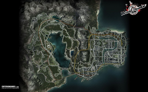 Burnout Paradise Map
