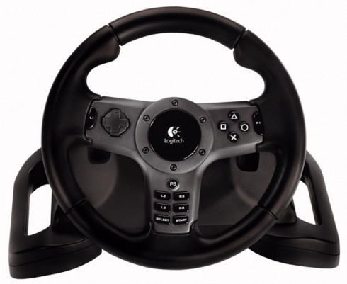 logitech driving force wireless exklusives ps3 lenkrad. Black Bedroom Furniture Sets. Home Design Ideas