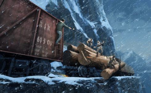 uncharted-2-train-fight-wallpaper-concept-art