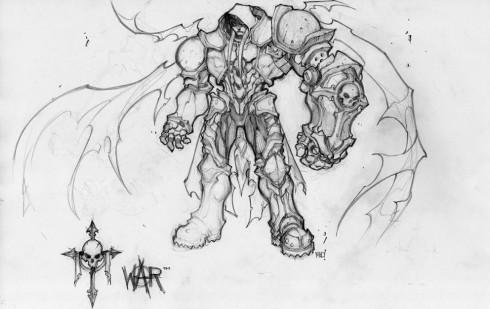 Darksiders Krieg Konzeptzeichnung