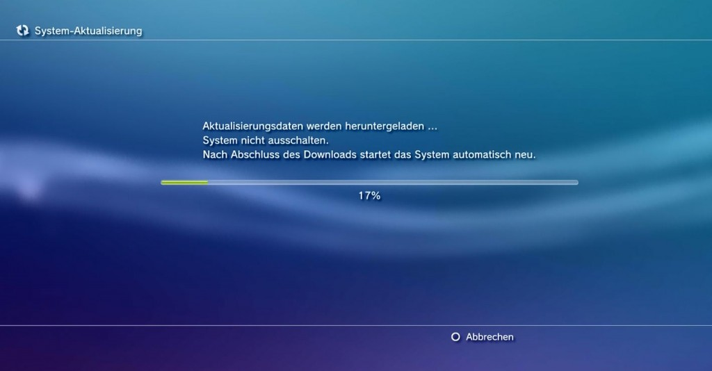 ps3 systemaktualisierung