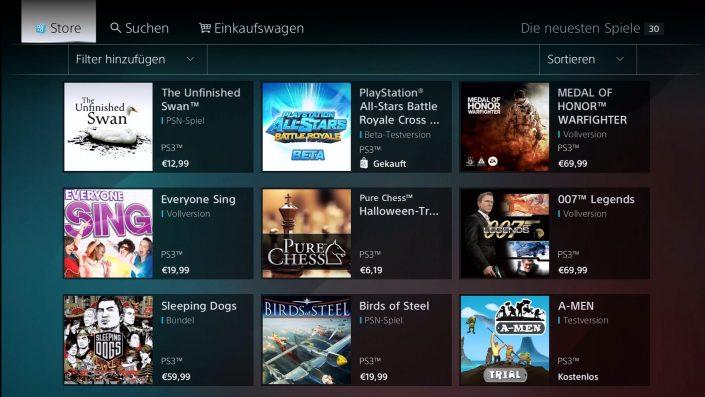 PlayStation Store: Webversion für PS3, PS Vita und PSP geschlossen
