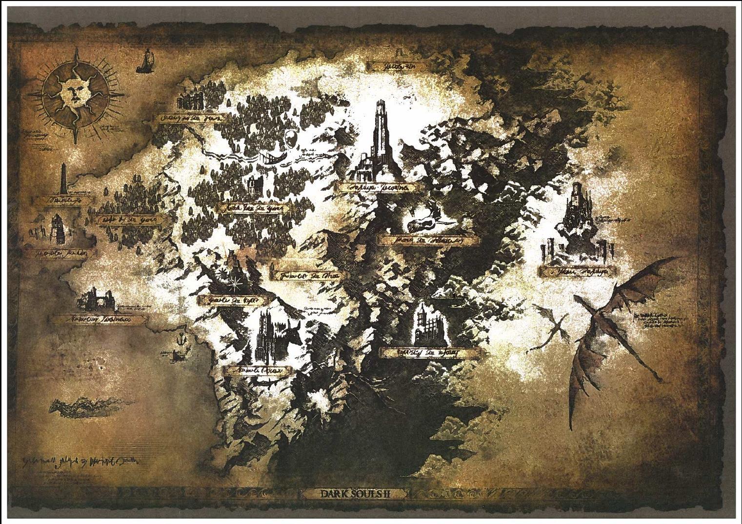 Mapa Dark Souls 2.Dark Souls 2 Map Gaming