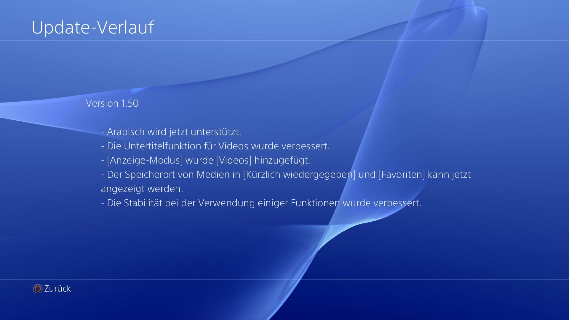 PS4 Media Player Update 1 50 bringt diverse Verbesserungen