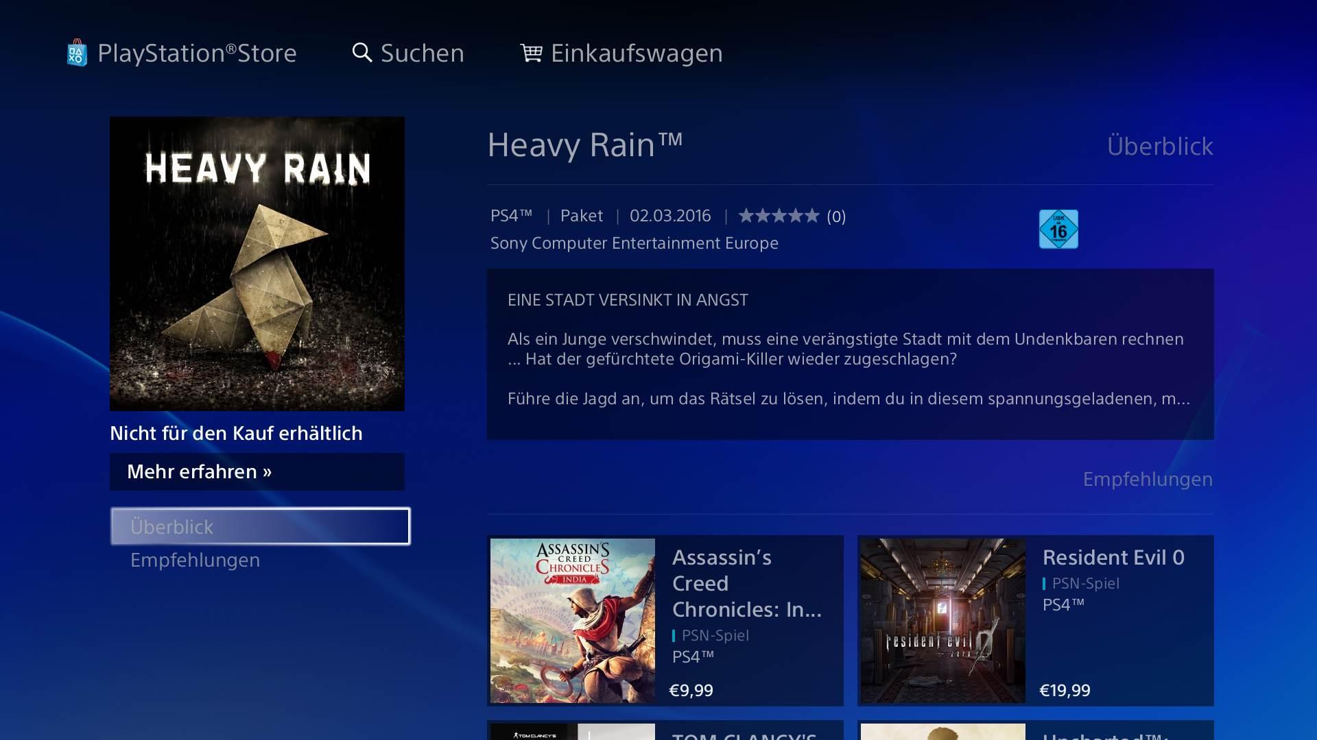 Heavy Rain Origami Killer Ps3