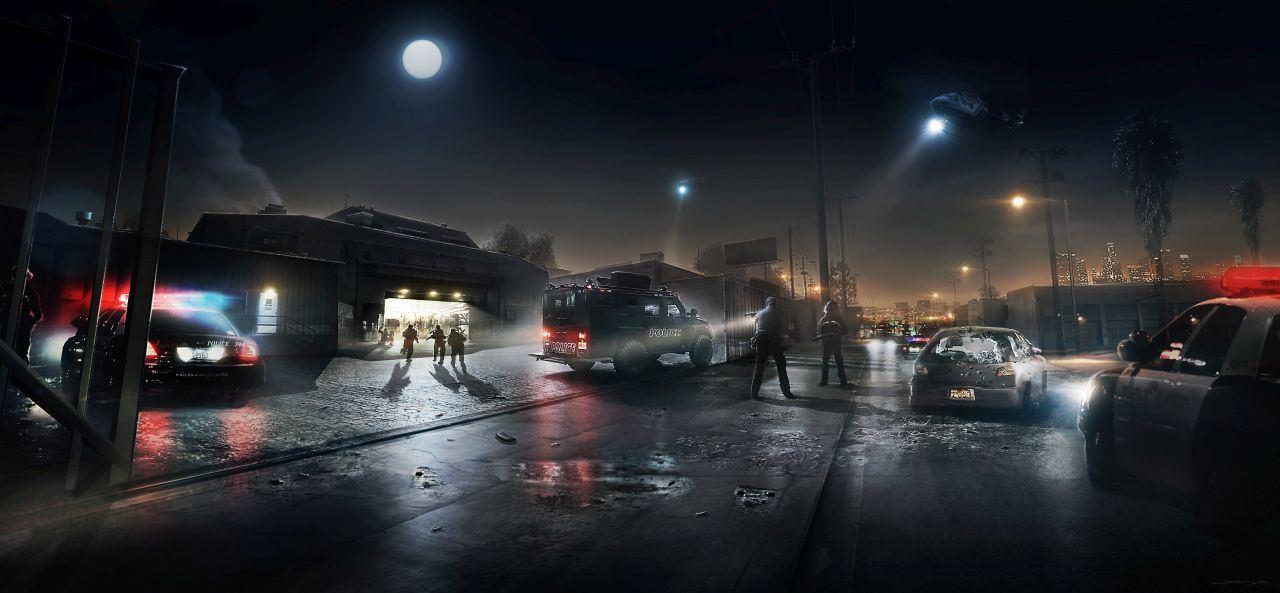 Futuristic City Night Car Commercial