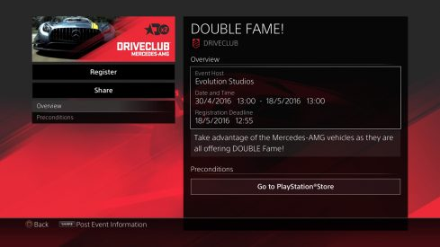 driveclub fame event