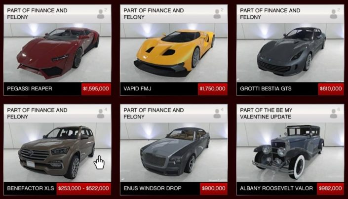 Gta List Of Cars By Price