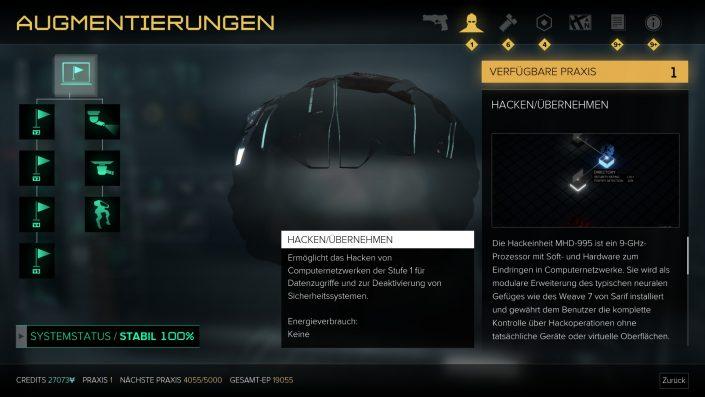 Deus Ex - Mankind Divided - Augmentierungen - Tipps - Guide - Hacken