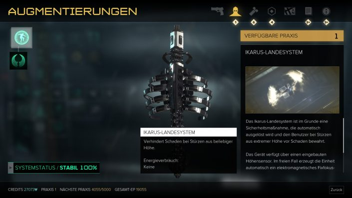 Deus Ex - Mankind Divided - Augmentierungen - Tipps - Guide - Ikarus
