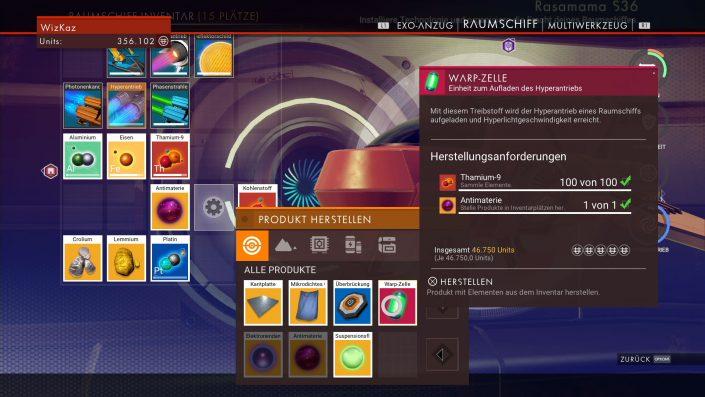 No Man's Sky - Hyperantrieb-Guide - Warpzellen herstellen