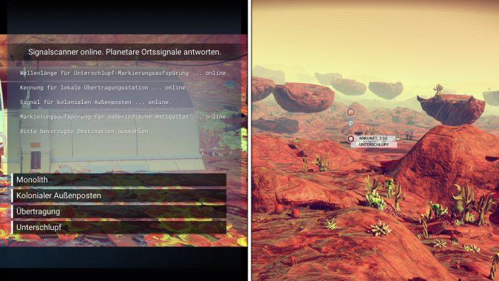No Man's Sky - Planeten erkunden auch ohne Karte - Signalscanner Auswahl
