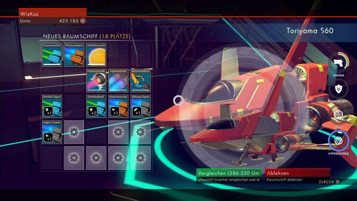 No Man's Sky - Raumschiffe finde, kaufen und verbessern - Raumschiff-Kauf