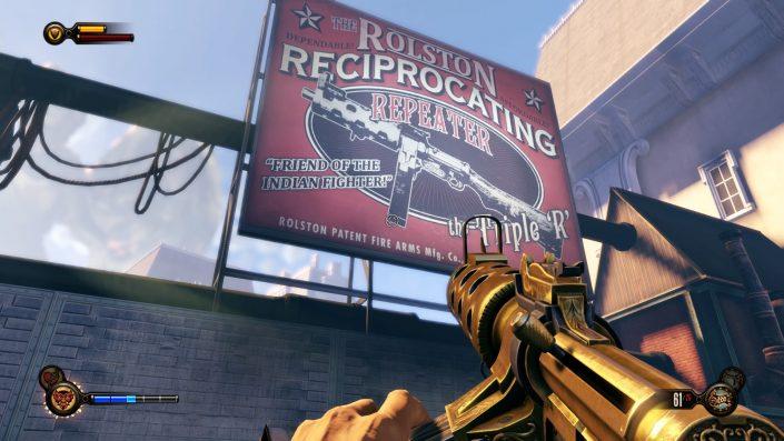 """""""BioShock: Infinite"""" liegt nun gleichauf mit der PC-Fassung auf höchster Detailsstufe."""