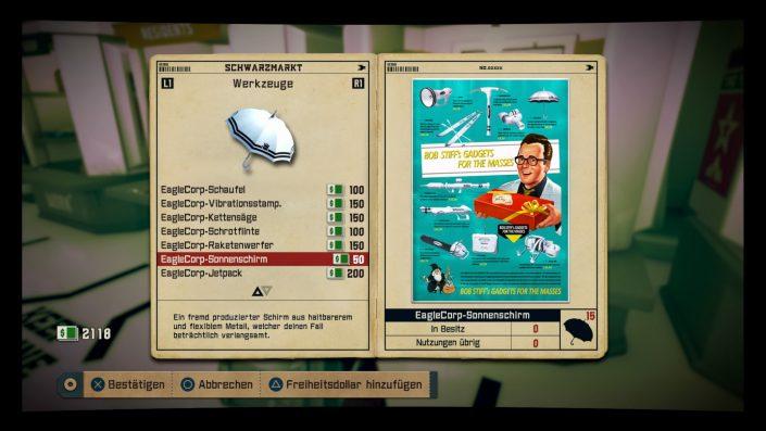 Screenshot des Schwarzmarkt-Bildschirms.