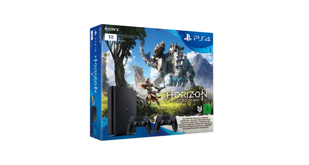 Horizon Zero Dawn PS4-Bundle mit 1TB-Konsole und 2 Controllern