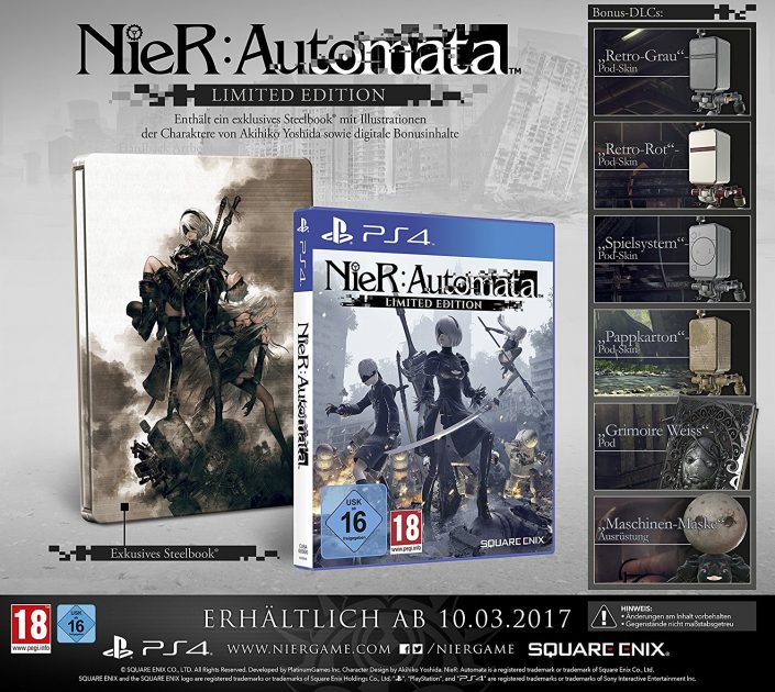 NieR Automata: Vorbestell-Extra, Day One Edition und Limited Edition ... Akihiko Persona