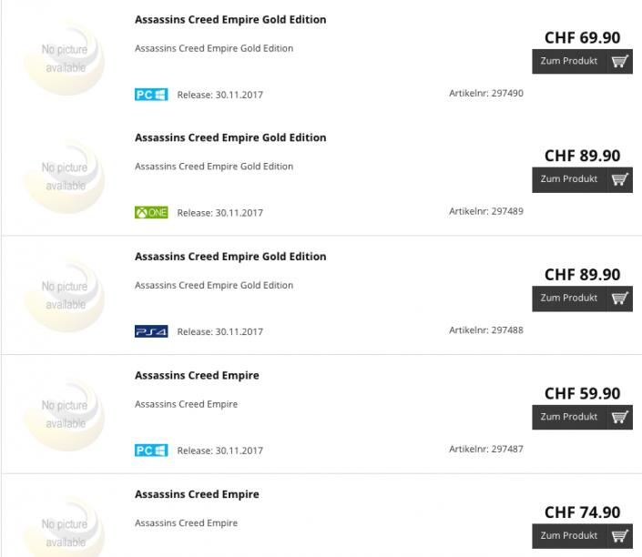 Assassin's Creed Empire Leak