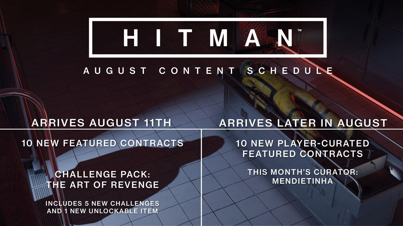 Hitman - die neuen Inhalte im August