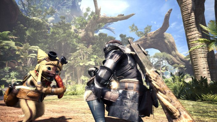 Monster Hunter World - Die Wildturm-Ödnis Wildlands_Waste_Screen_012_Palico_GamesCom_150298500512