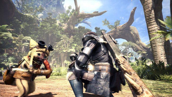 Monster Hunter World - Die Wildturm-Ödnis Wildlands_Waste_Screen_012_Palico_GamesCom_150298500512