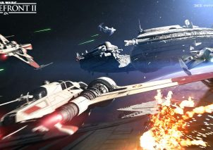 Star Wars Battlefront 2 Sternenjäger Angriff Screenshot1_PrequelSpaceBattle_DroidShip_WM