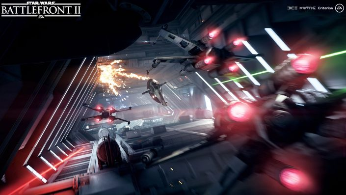 Star Wars Battlefront 2 Sternenjäger Angriff Screenshot3_Objective_DestroyingShieldGeneratorinAccessTunnel_v2_WM
