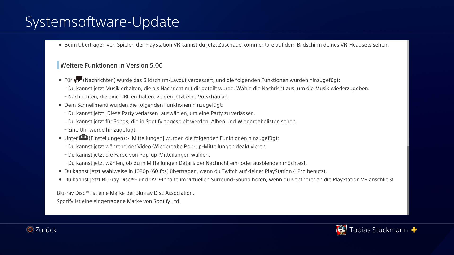 PlayStation 4 Firmware 5.00- Nobunaga Patchnotes – Bild 3