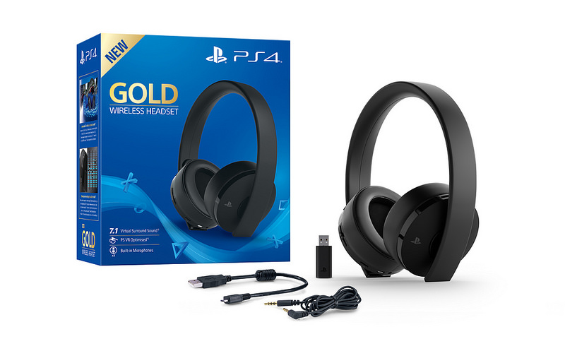 wireless headset neue gold edition f r ps4 und ps vr. Black Bedroom Furniture Sets. Home Design Ideas