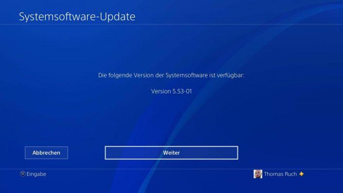 PS4 Firmware-Update 5.53-01 veröffentlicht
