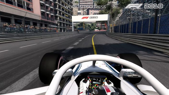 f1 2018 erstes gameplay video zeigt monaco. Black Bedroom Furniture Sets. Home Design Ideas