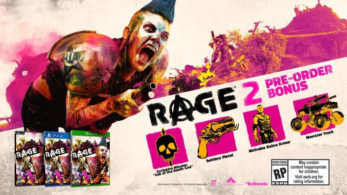 Rage 2: Läuft auf der Apex Engine – Infos zu den Vorbesteller-Inhalten