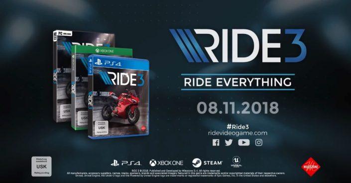 Ride 3: Mit Trailer und Termin für PS4 angekündigt