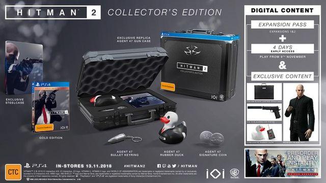Hitman 2: 140 Euro teure Collector's Edition mit Waffenkoffer und Quietscheente kann vorbestellt werden