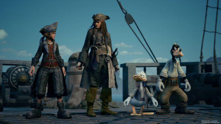 """Kingdom Hearts 3: Zahlreiche Screenshots zu """"Frozen""""- und """"Fluch der Karibik""""-Inhalten"""