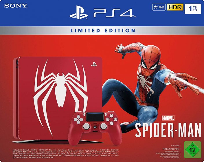 spider man limited edition ps4 und ps4 pro bundle im. Black Bedroom Furniture Sets. Home Design Ideas