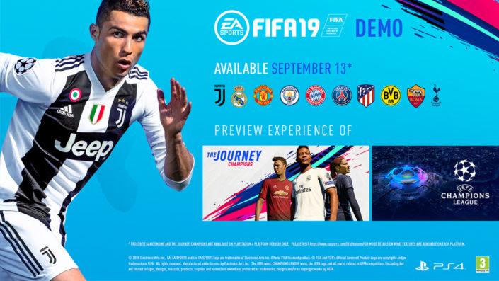 FIFA 19: Die Demo bietet euch einen Blick auf verschiedene Clubs, The Journey und mehr – Trailer