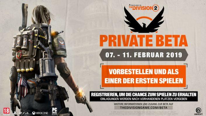 The Division 2: Private Beta hat einen Termin – jetzt anmelden und neuer Story-Trailer