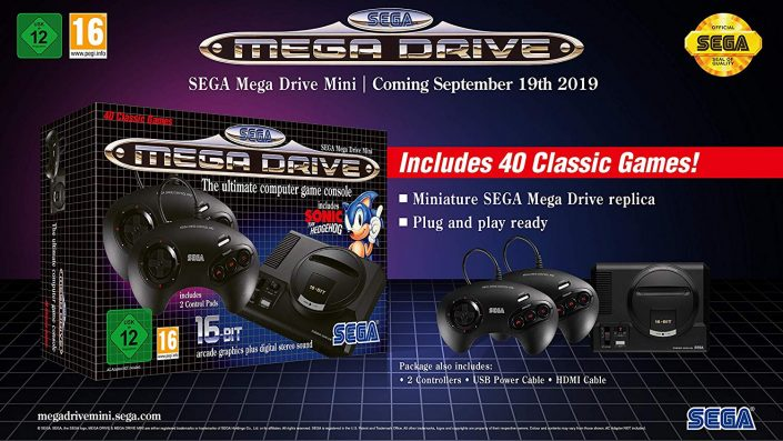 "SEGA Mega Drive Mini: Neuer Showcase-Trailer präsentiert die Retro-Mini-Konsole – ""Mega Drive Does""-Trailer"