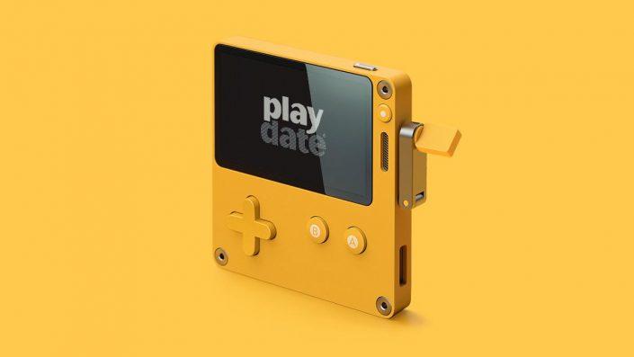 Playdate: Neuer Gaming-Handheld mit Schwarz-Weiß-Display und Kurbel angekündigt