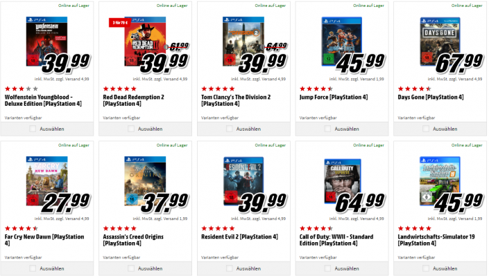 Neue Aktionen: 3 Spiele für 49 oder 79 Euro – inkl. Days Gone, Resident Evil 2 und mehr
