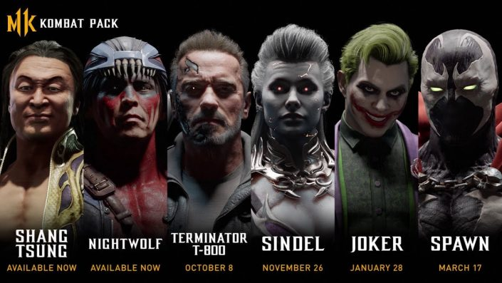 Mortal Kombat 11: Trailer enthüllt alle DLC-Charaktere inkl. Terminator, Joker und Spawn