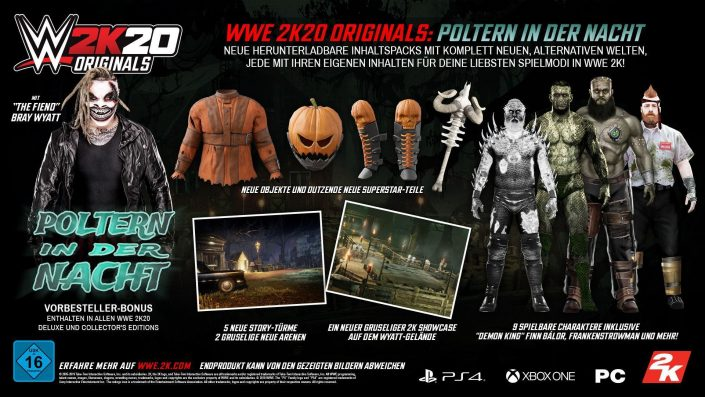 WWE 2K20: Erstes Originals Pack und Vorbesteller-Bonus enthüllt