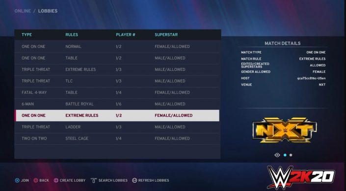 """WWE 2K20: Online-Lobbies kehren zurück – Details zu """"Mein Spieler"""" und Tages-Herausforderungen"""