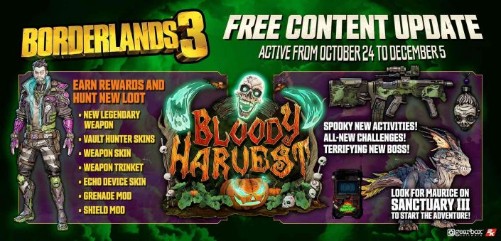 Borderlands 3: Bloody Harvest-Event startet diese Woche – Trailer und Details