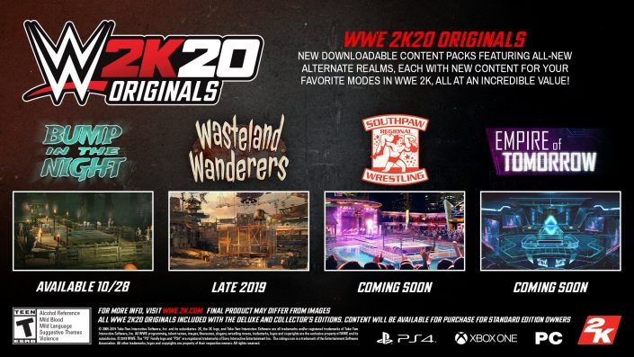 WWE 2K20: Infos zum Post-Launch-Support – Vier DLC-Packs geplant