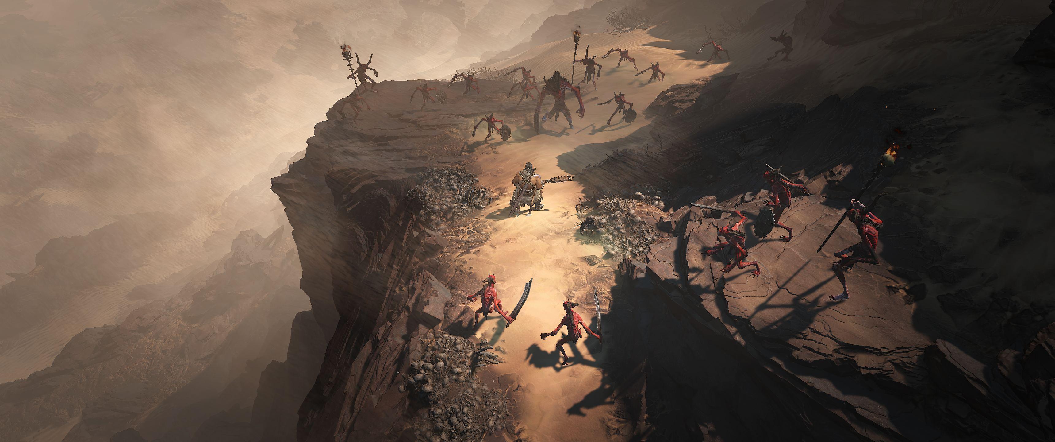 Diablo 4 Screenshot Combat_Kehjistan_Barb_Fallen_2