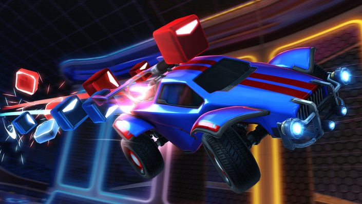 Rocket League & Beat Saber: Crossover gestartet – Songs, Spielumgebung, Würfel und mehr