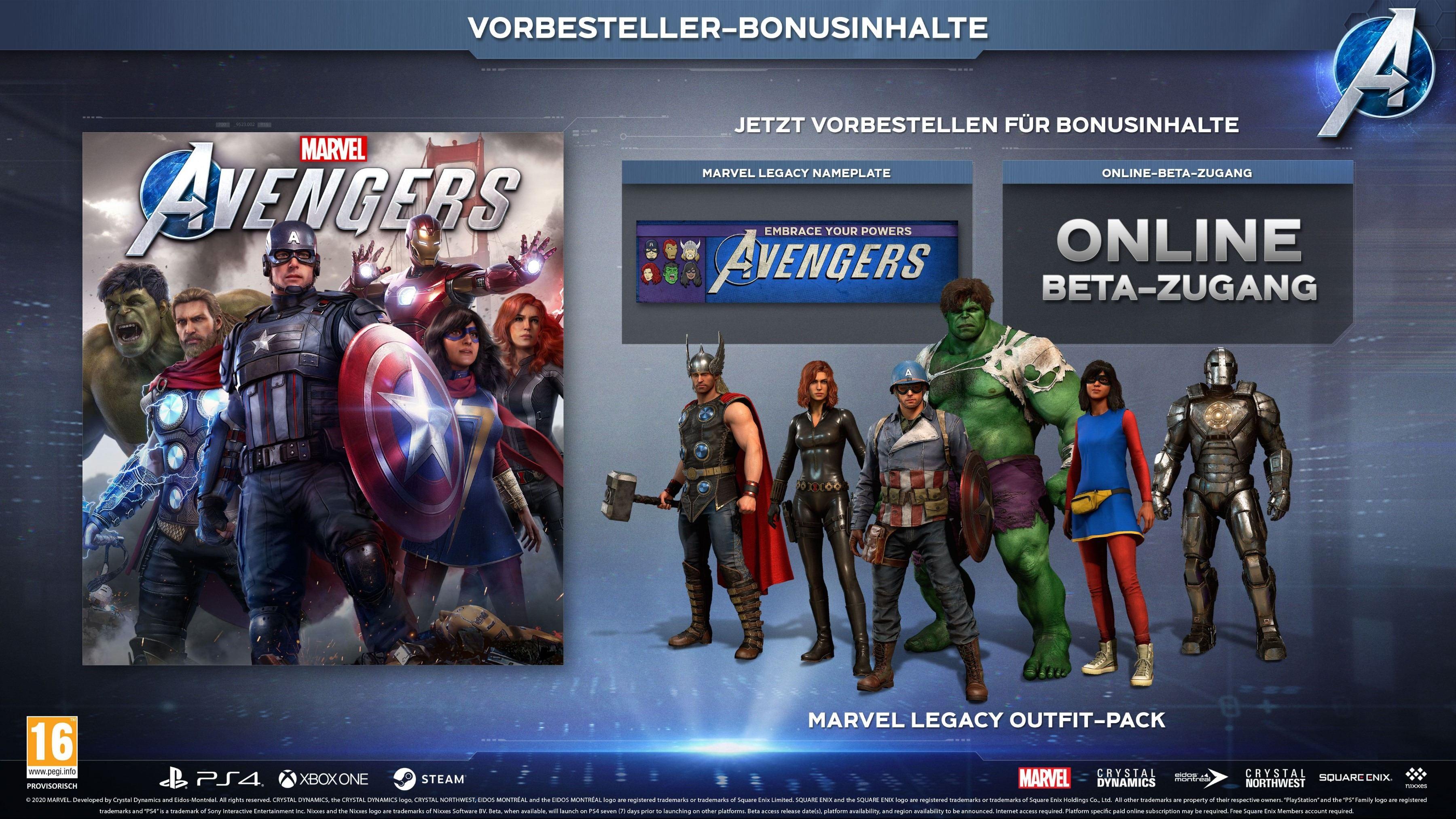 Marvel's Avengers Pre-Order Items GER